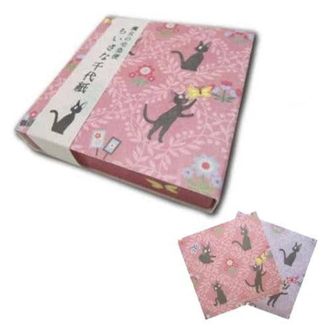 Studio Ghibli Mini Origami Craft Paper (Kiki's Delivery Service / Jiji and Flowers) - Hamee Strapya World