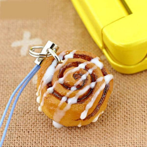 Food Sample Strap (Cinnamon Roll) - Hamee Strapya World