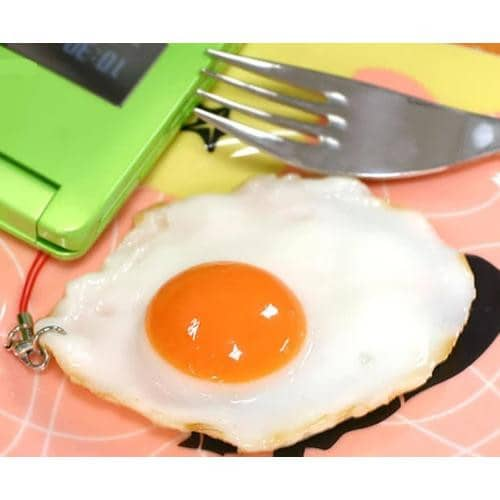 Food Sample Strap (Fried Egg) - Hamee Strapya World