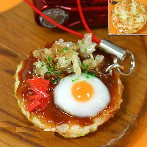 Food Sample Strap (Okonomiyaki) - Hamee Strapya World