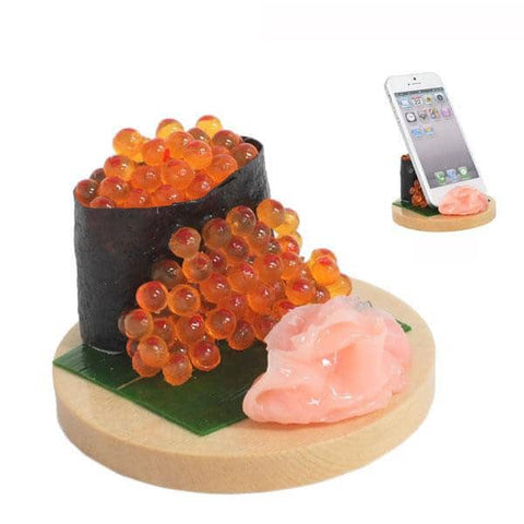 Food Sample Smartphone Stand (Salmon Roe) - Hamee Strapya World