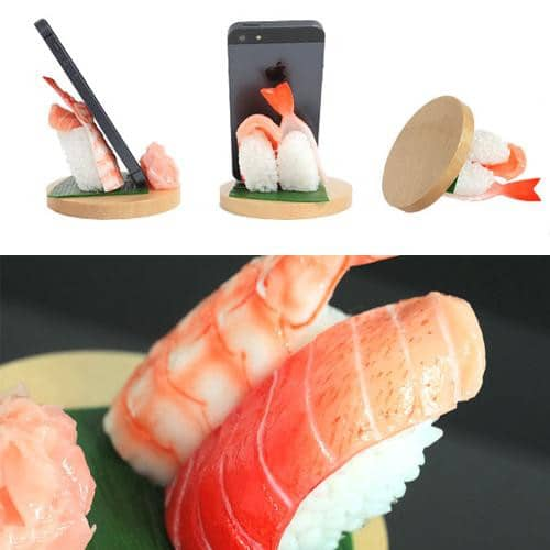Food Sample Smartphone Stand (Toro and Shrimp) - Hamee Strapya World