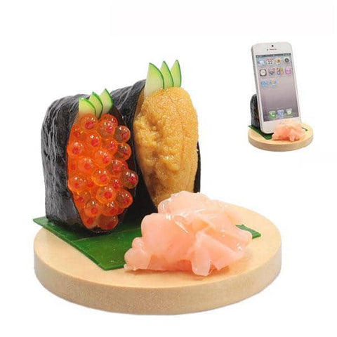 Food Sample Smartphone Stand (Sushi / Uni & Ikura) - Hamee Strapya World