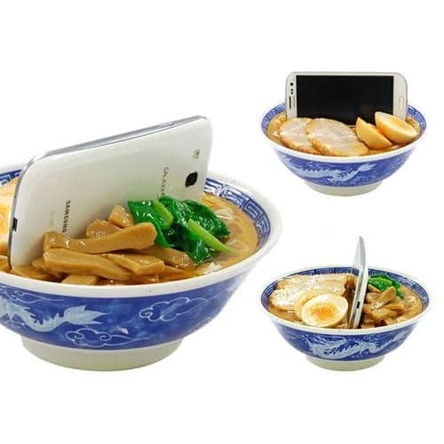 Food Sample Smartphone Stand (Ramen) - Hamee Strapya World