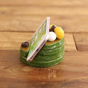 Food Sample Smartphone Stand (Pancake) (Matcha Green Tea) - Hamee Strapya World