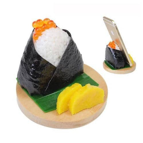 Food Sample Onigiri Smartphone Stand (Rice Ball / Ikura) - Hamee Strapya World