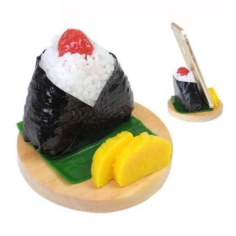 Food Sample Onigiri Smartphone Stand (Rice Ball / Umeboshi) - Hamee Strapya World