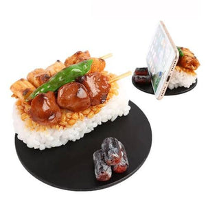 Food Sample Phone Case for Smartphones (Yakitori Rice Bowl) - Hamee Strapya World