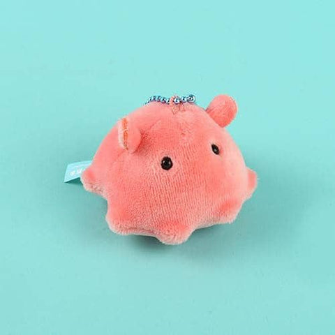 Flapjack Octopus  Fluffy Plush Ball Chain - Hamee Strapya World