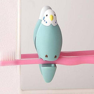 Budgerigar Toothbrush Holder (Blue) - Hamee Strapya World