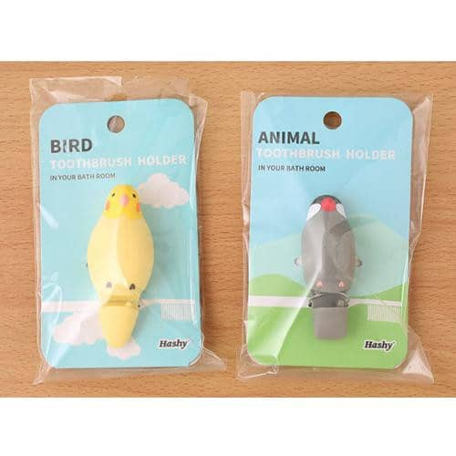 Java sparrow Toothbrush Holder (Grey) - Hamee Strapya World