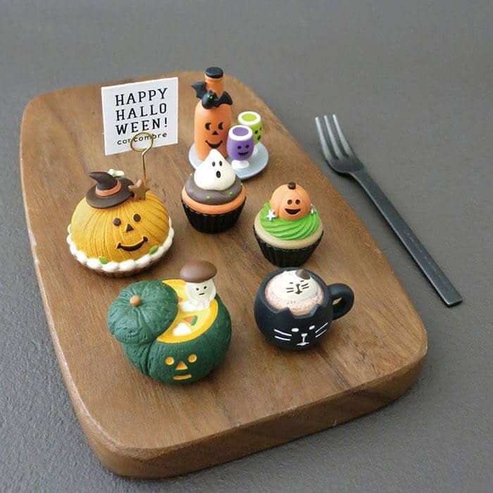 DECOLE Concombre Figures - Halloween (Black Cat Latte) - Hamee Strapya World