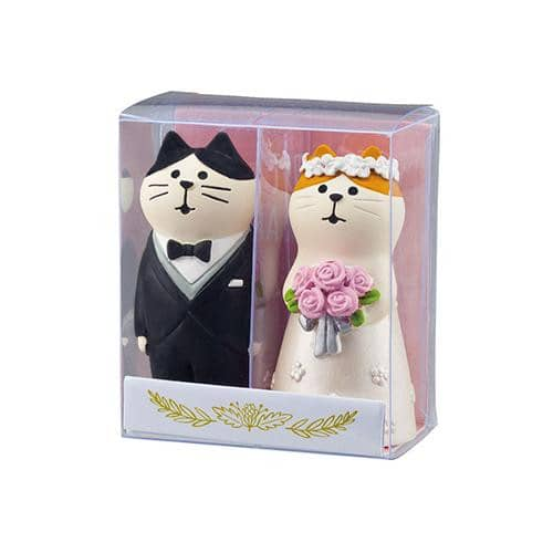 DECOLE Concombre Figures Happy Wedding (Japanese European Style Cat) - Hamee Strapya World