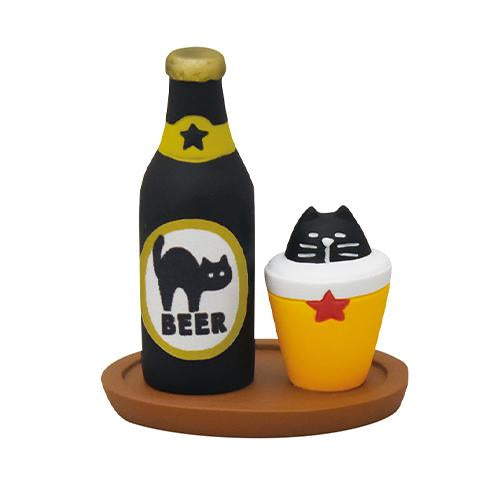 DECOLE Concombre Figures - Halloween (Black Cat Beer Set)