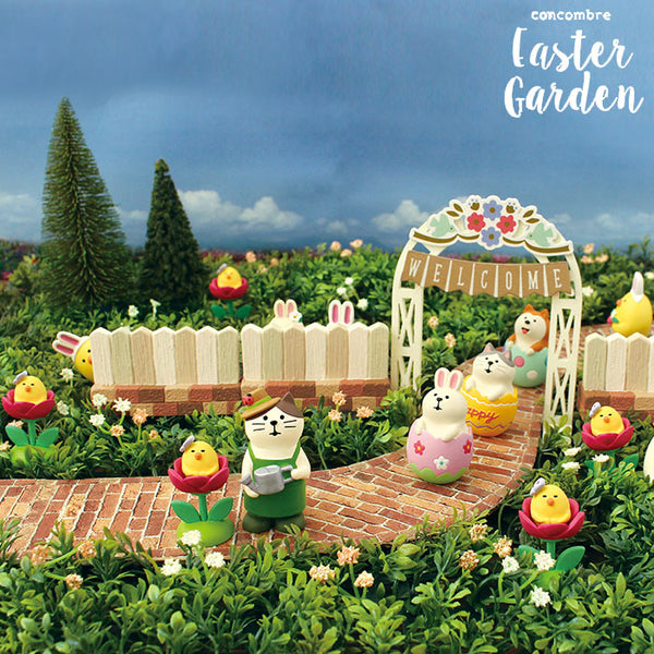 DECOLE Concombre Figures Easter Garden (Welcome Gate) - Hamee Strapya World