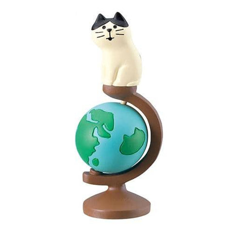 DECOLE Concombre Figures World Trip (Globe) - Hamee Strapya World