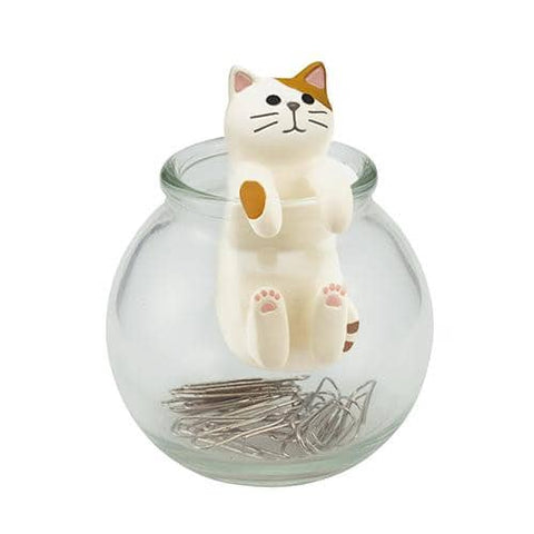DECOLE HAPPY cat day Clip Bottle (Tabby Cat) - Hamee Strapya World