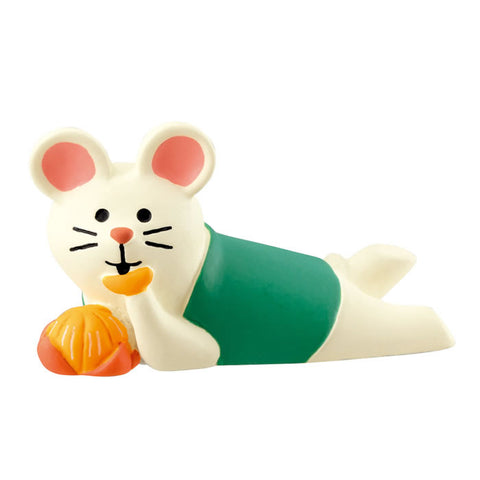 DECOLE Concombre Figures New Year (Mouse Eating Orange) - Hamee Strapya World