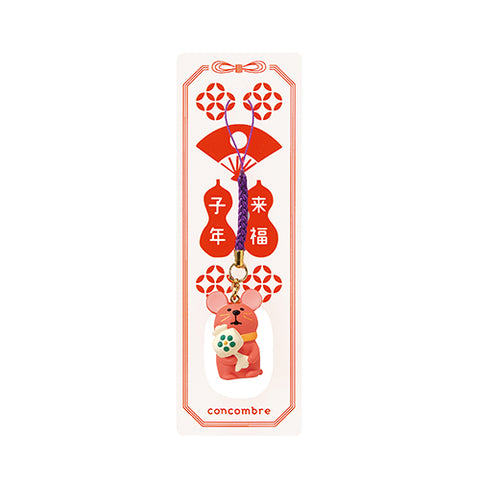 DECOLE Concombre Figures New Year (Good Luck Mouse Strap / Red) - Hamee Strapya World
