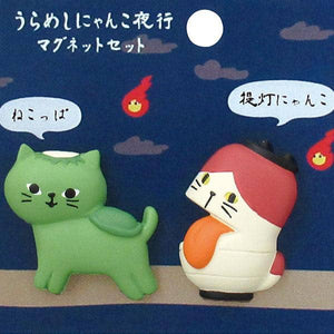DECOLE Urameshi Nyanko Cat Magnet (Nekoppa & Chochin) - Hamee Strapya World