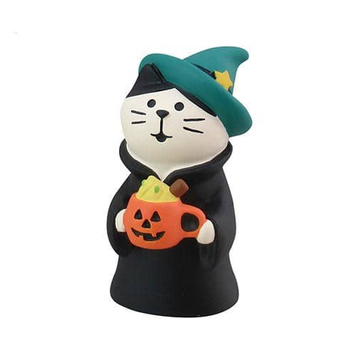 DECOLE Concombre Figures Halloween (Cat with Pumpking Latte) - Hamee Strapya World