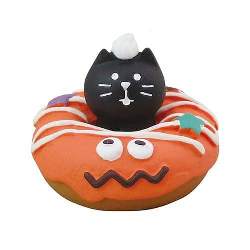 DECOLE Concombre Figures Halloween (Cat Donut/Orange) - Hamee Strapya World