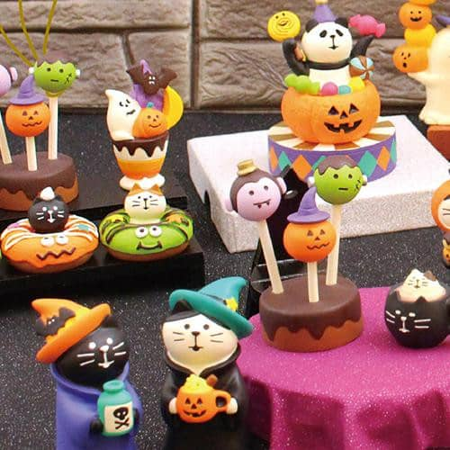 DECOLE Concombre Figures Halloween (Cat Donut/Matcha) - Hamee Strapya World