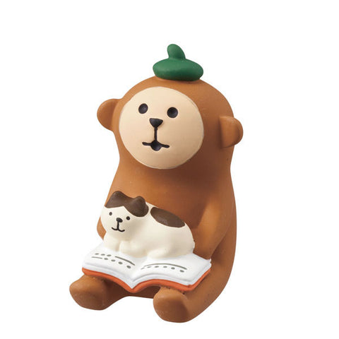 DECOLE Concombre Figures Old Style Cafe (Bookish Monkey) - Hamee Strapya World