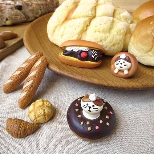 DECOLE Concombre Figures Yamaneko Bakery (Bread x 4) - Hamee Strapya World