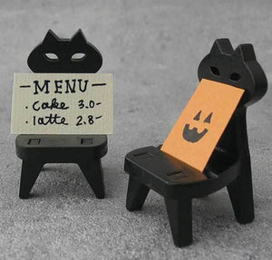 DECOLE Concombre Figures - Halloween (Black Cat Chair) - Hamee Strapya World