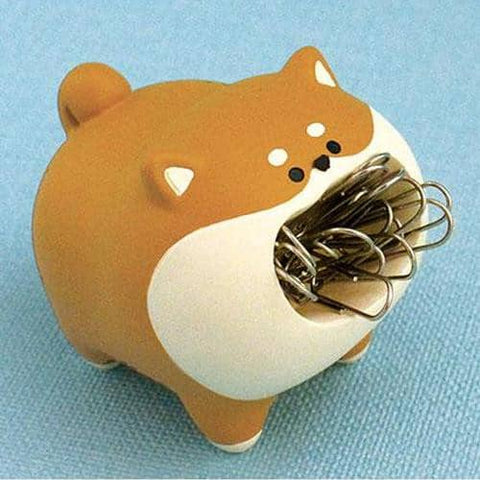 harapeko animal Paper Clip Holder (Shiba Inu) - Hamee Strapya World
