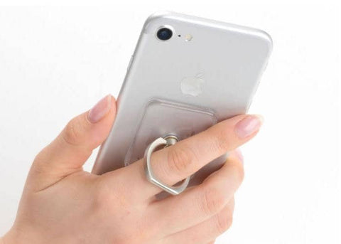 Clear Acrylic Smartphone Ring (Silver) - Hamee Strapya World