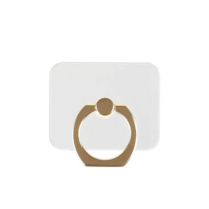 Clear Acrylic Smartphone Ring (Gold) - Hamee Strapya World