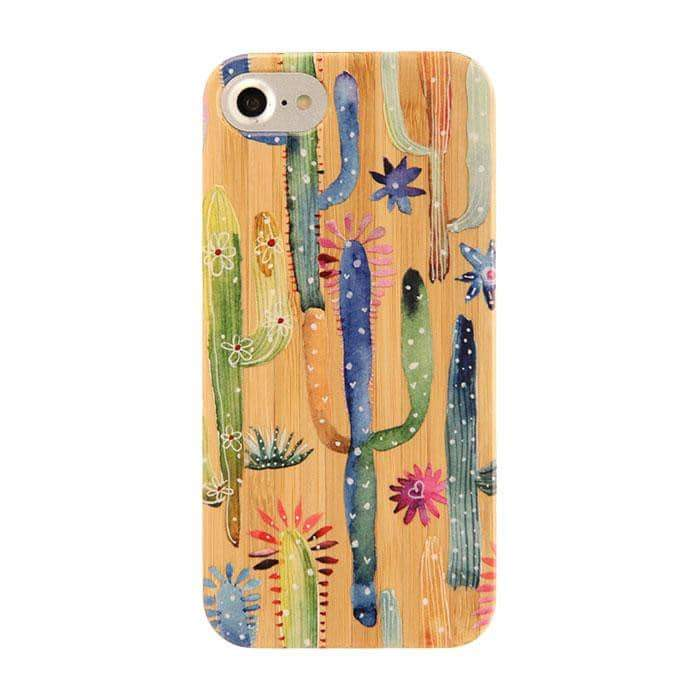 Bamboo Rubber Case Phone Case for iPhone 8/7/6s/6 - Hamee Strapya World