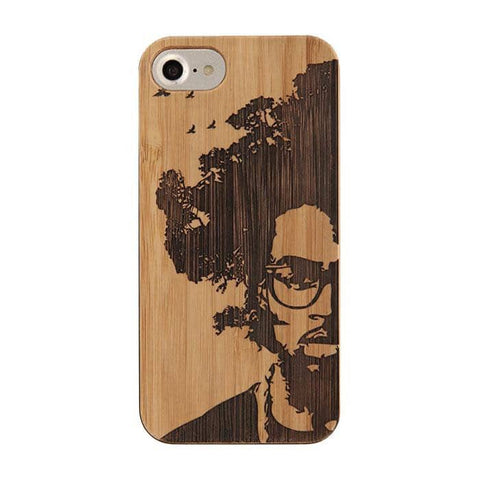 Bamboo Rubber Case Phone Case for iPhone 8/7/6s/6 (AFRO TREE) - Hamee Strapya World