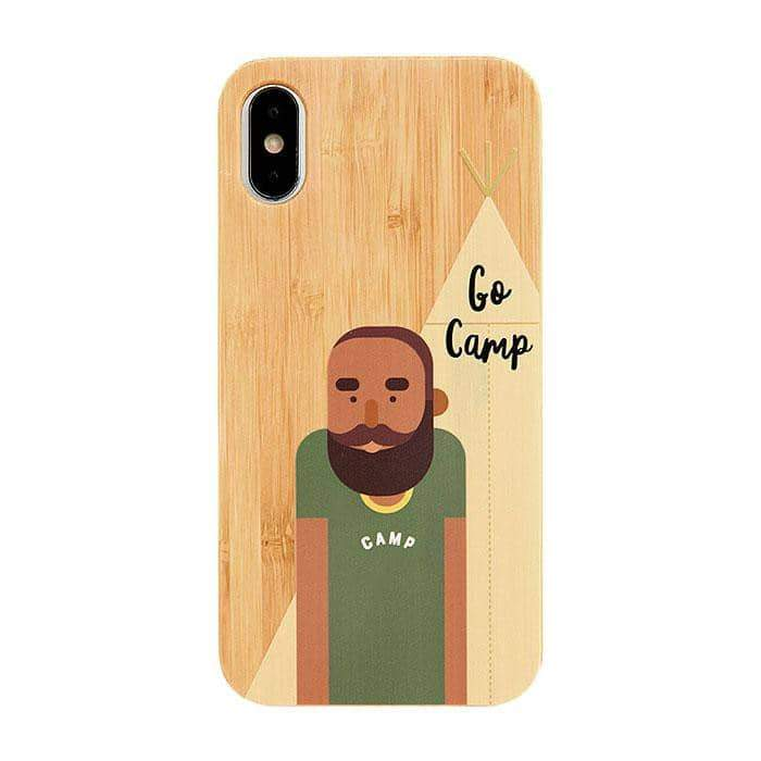 Bamboo Rubber Case Phone Case for iPhone XS/X - Hamee Strapya World