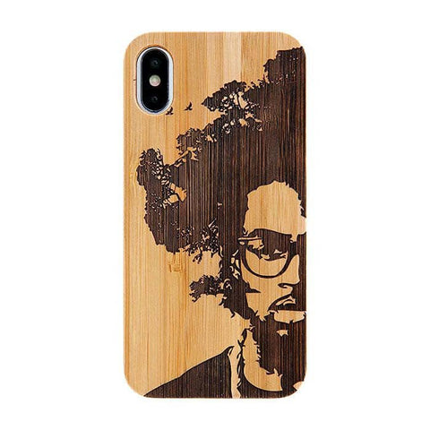 Bamboo Rubber Case Phone Case for iPhone XS/X (AFRO TREE) - Hamee Strapya World
