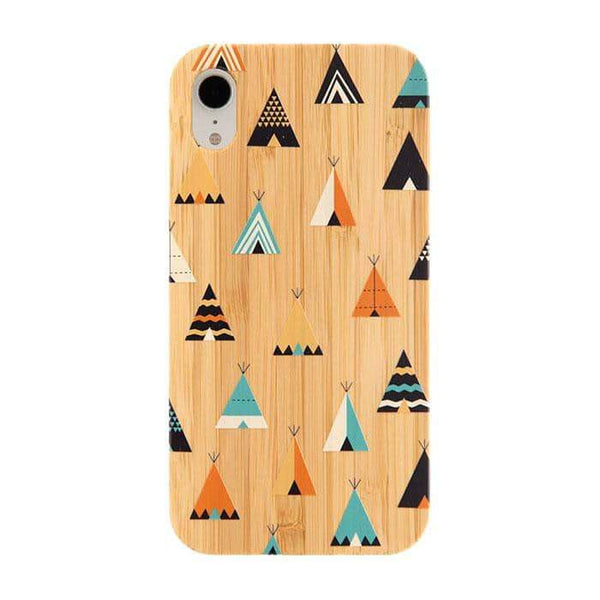 Bamboo Rubber Case Phone Case for iPhone XR - Hamee Strapya World