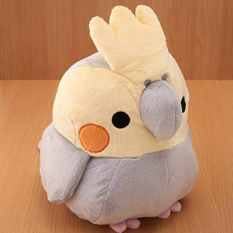 Soft and Downy Bird Plush - Munyu Mamu Series (Cockatiel) (Grey) - Hamee Strapya World