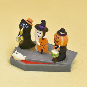 DECOLE Concombre Figures - Halloween (Black Cat & Sax)