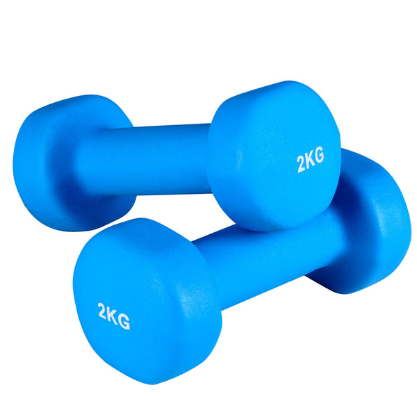 6 Piece Dumbbell Weights Set 12kg with Stand - Simplistic Nutrition and Health