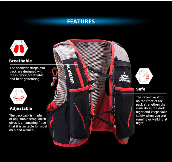 AONIJIE E906 5L Hydration Pack/Vest - Simplistic Nutrition and Health