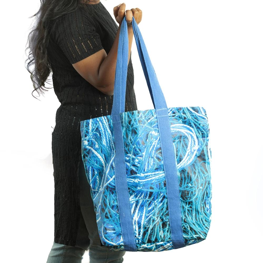 On the edge of the sea | Classic Tote Bag - Blue