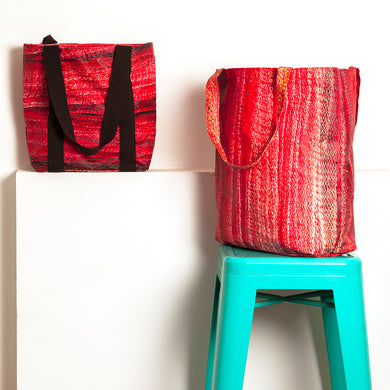 On the edge of the sea | Waterproof Tote Bag - Red