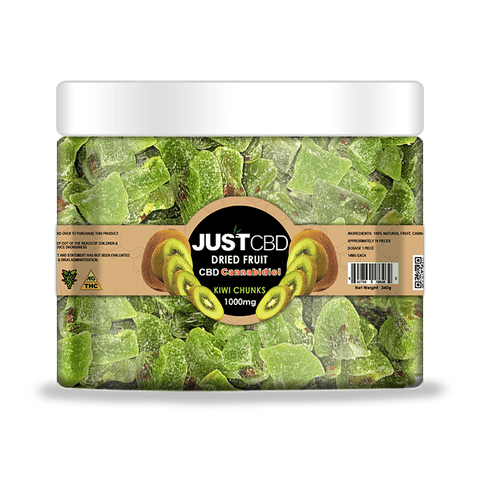 JustCBD Dried CBD Kiwi | 1000 mg. | 14 mg. per slice