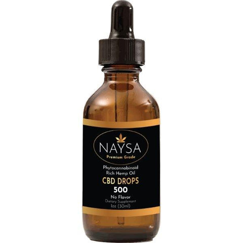 NAYSA Full Spectrum CBD Drops | Natural | 1 oz. | 500 mg. CBD