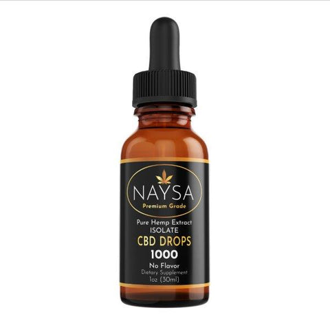 Naysa CBD Isolate Drops | Natural | 1 oz. | 1000 mg. CBD
