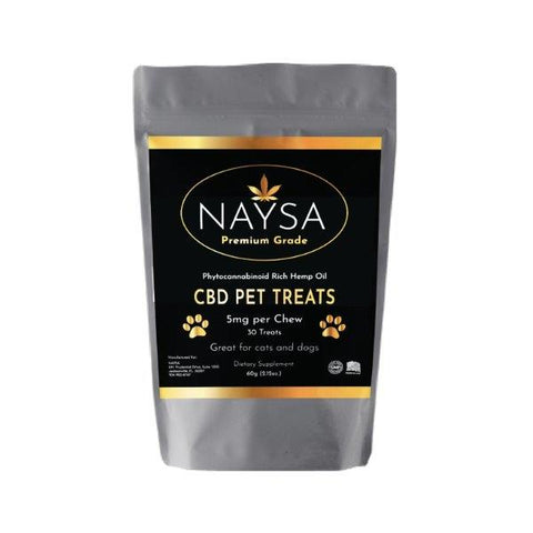 NAYSA CBD Pet Treats for Dogs & Cats | 30 ct.