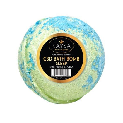NAYSA CBD Bath Bomb | 100 mg. | Sleep