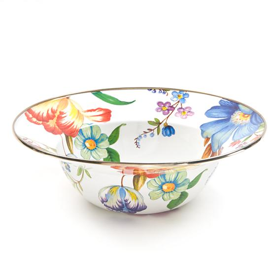 MacKenzie-Childs Flower Market Serving Bowl - White